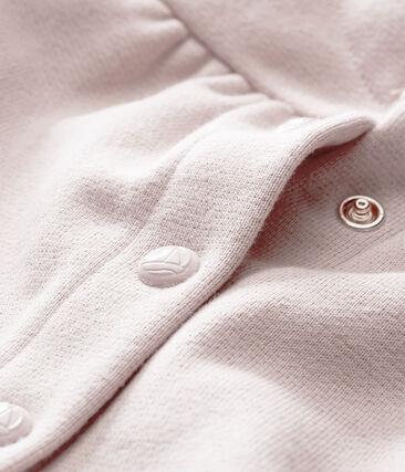 Cardigan per bebé femmina in molleton scintillante