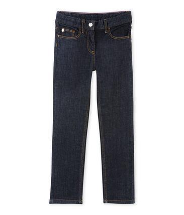 Pantaloni bambina in jersey brut