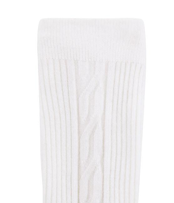 Collant caldo bambina bianco Marshmallow