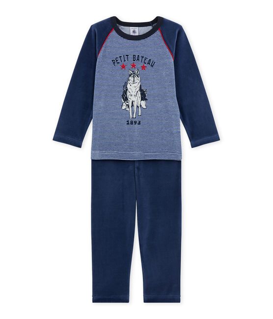 Pigiama per bambino con motivo lupo blu Surf / blu Major