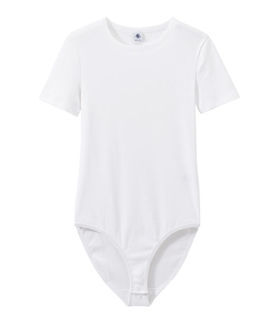 Body donna BODYCONIQUE in cotone bianco Ecume
