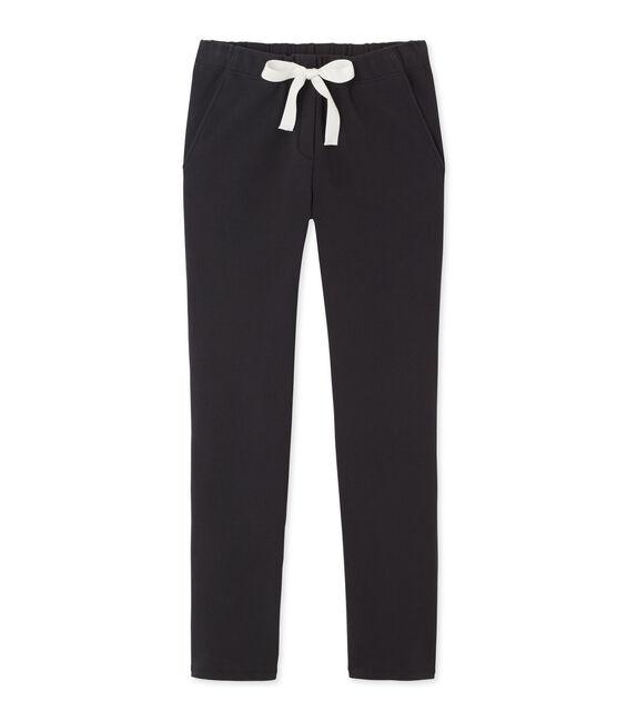 Pantalon femme en coton stretch grigio Capecod