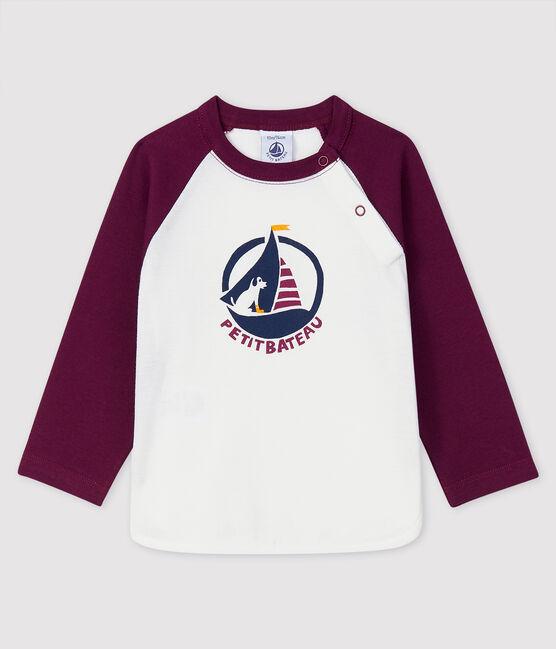 T-shirt bebè maschio MARSHMALLOW/CEPAGE
