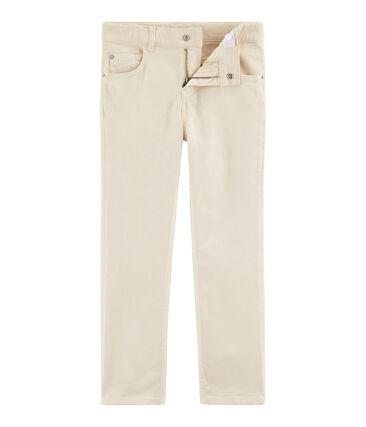 Pantaloni bambino bianco Feta