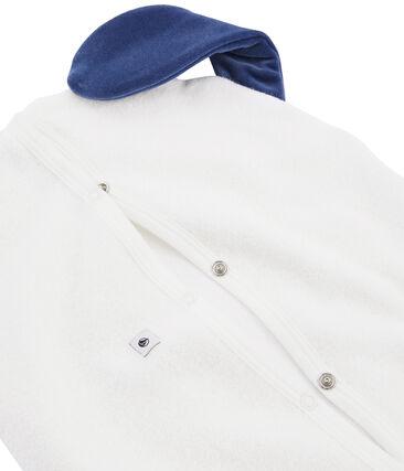Riponi pigiama in spugna bouclette grattata bianco Marshmallow / blu Medieval