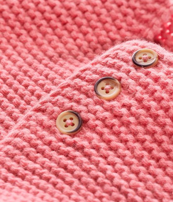 Cardigan punto legaccio per bebé unisex rosa Cheek
