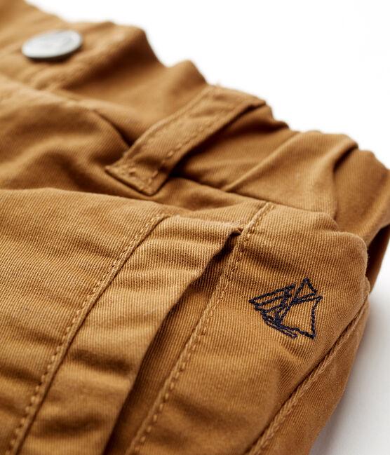Pantaloni foderati in pile da neonato marrone Brindille