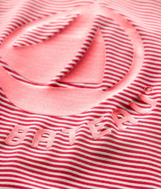 Tuta con filtro solare bebè unisex rosa Geisha / bianco Marshmallow
