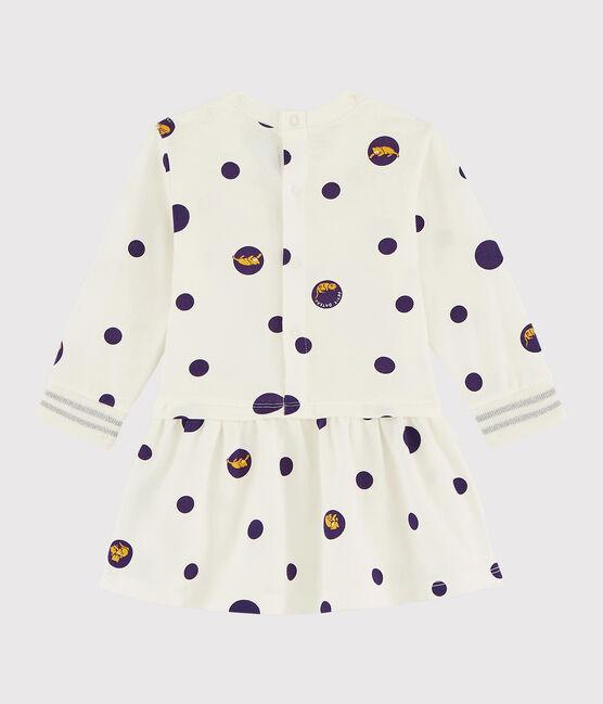 Abito a maniche lunghe da bebè femmina bianco Marshmallow / bianco Multico