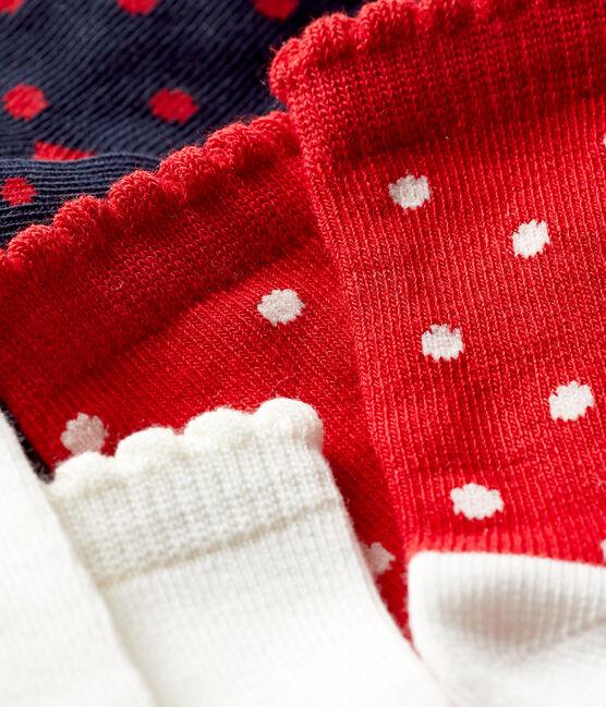 Confezione da 3 paia di calzini bebè femmina lotto .
