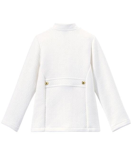 Cappotto bambina in tubique matelassé bianco Marshmallow