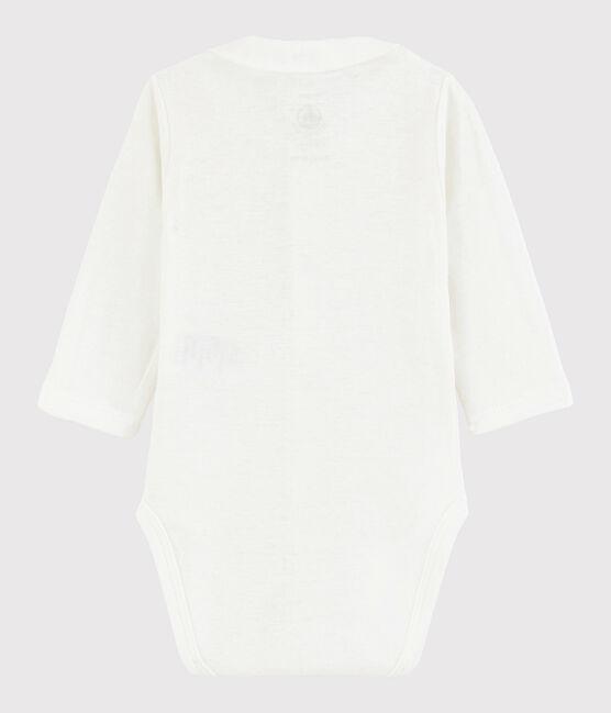 Body con collo manica lunga bebè maschio bianco Marshmallow