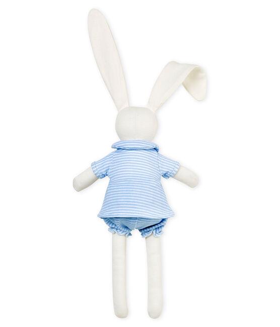 Doudou coniglio vestito blu Fraicheur / bianco Marshmallow