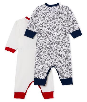 Duo tutine pigiama senza piedi bambina a costine lotto .