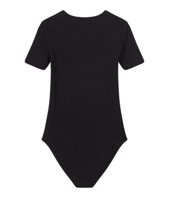 Body donna BODYCONIQUE in cotone nero Noir