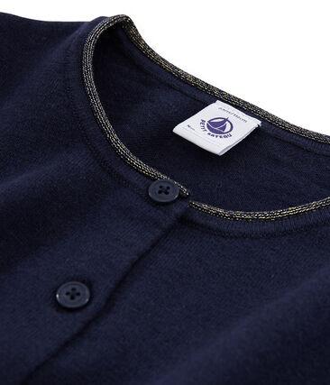 Cardigan tricot bambina blu Smoking
