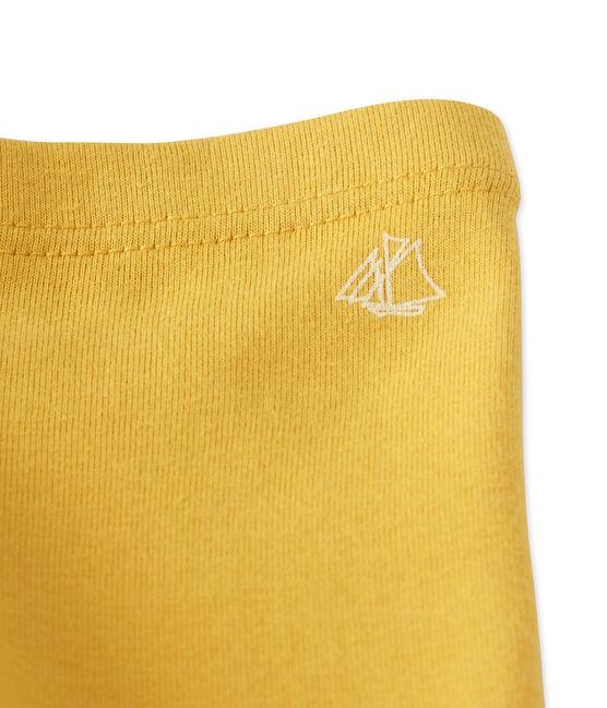 Leggings per bebè femmina giallo Ocre