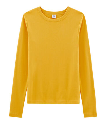 T-shirt manica lunga iconica donna giallo Boudor