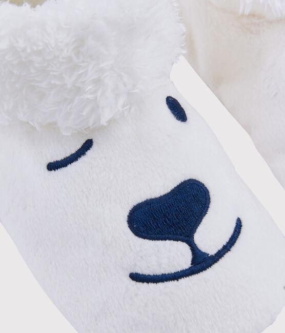 Babbucce orso in pile bambino bianco Marshmallow