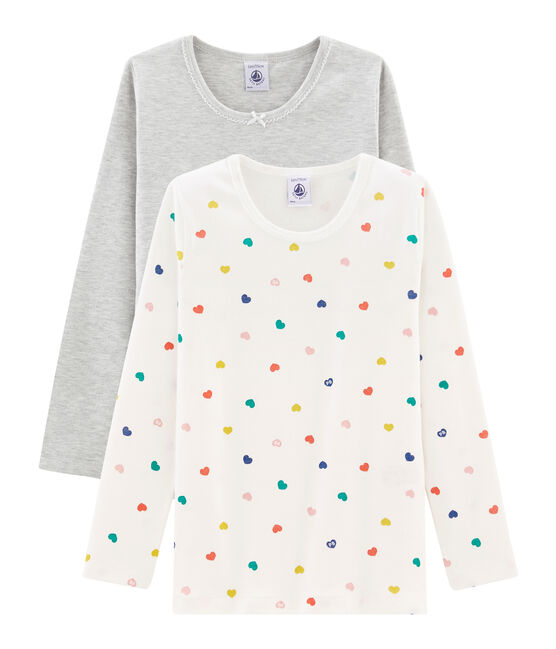 Duo t-shirt maniche lunghe bambina lotto .
