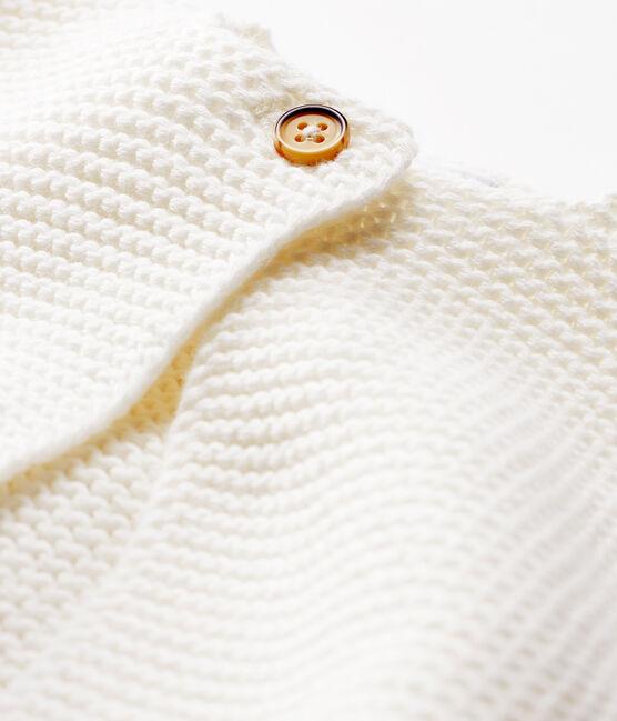 Cardigan bebè in tricot 100% cotone bianco Marshmallow