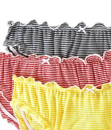 Lotto di 3 culottes con volants donna