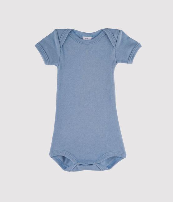 Body manica corta bebè maschietto blu Acier