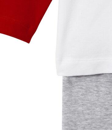 Pigiama per bambino stampato grigio Poussiere / bianco Multico