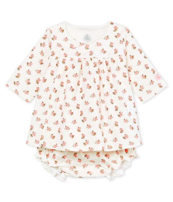 Abito e bloomer neonata bianco Marshmallow / bianco Multico