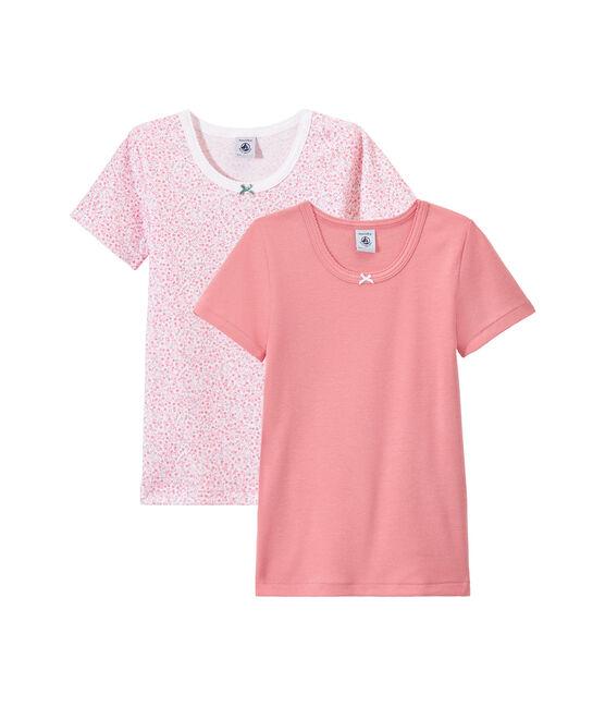 Lotto di 2 t-shirts per bambina a maniche corte lotto .