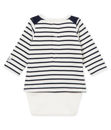 Body t-shirt a righe bebè maschietto