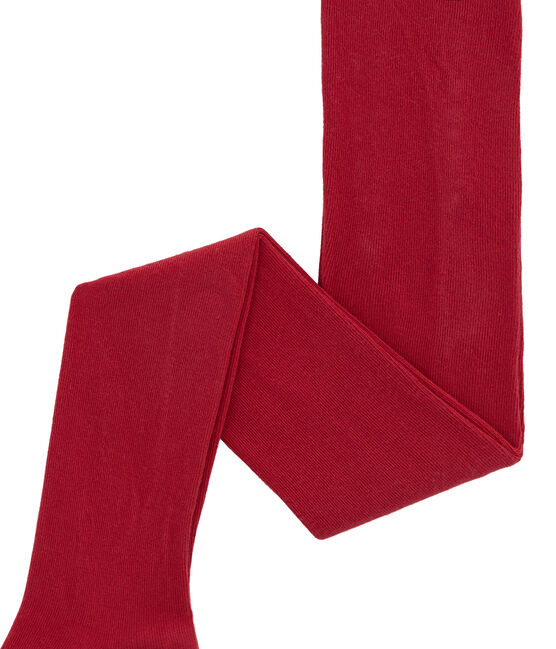 Collants in jersey per bambina rosso Terkuit