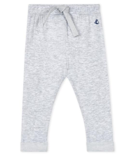 Pantalone per bebé maschio grigio Poussiere / bianco Lait