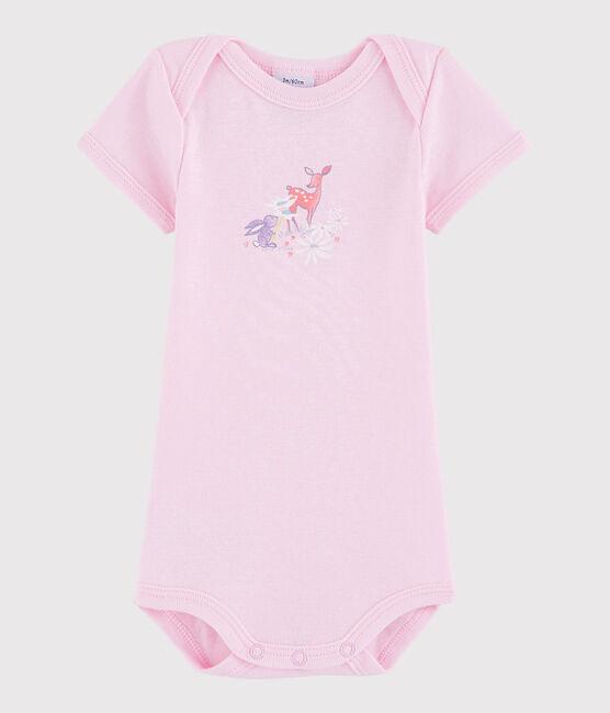 Body a manica corta bebè unisex rosa Doll
