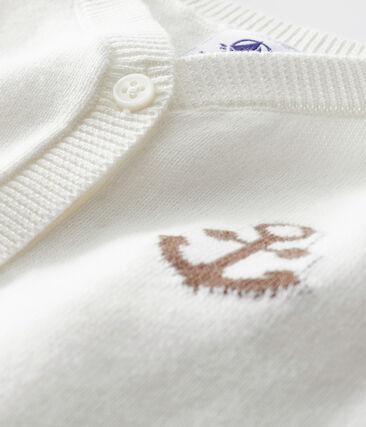 Cardigan bebè maschio bianco Marshmallow