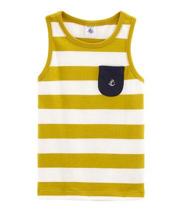 Canottiera bambino giallo Bamboo / bianco Marshmallow