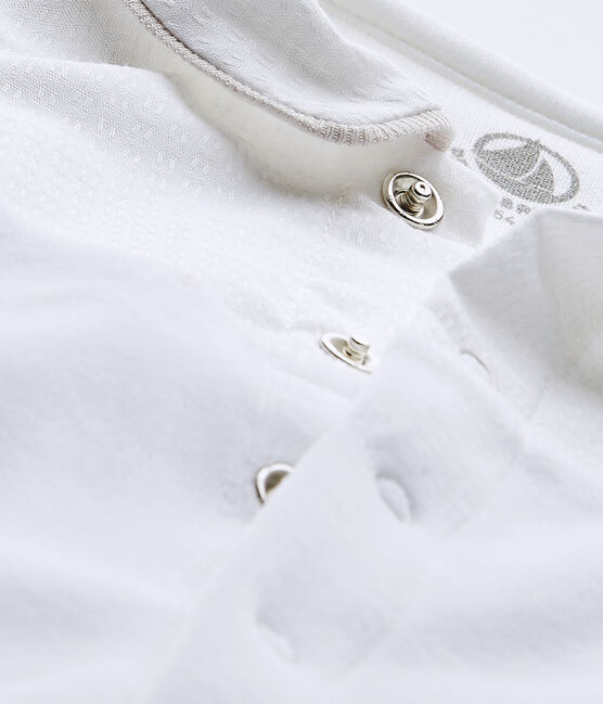 Tutina bebé unisex in cotone bianco Ecume