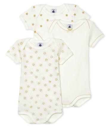 Trio body manica corta bebè femmina lotto .