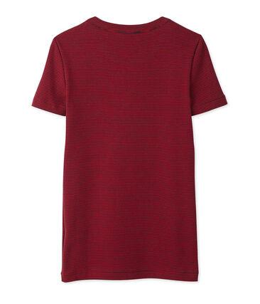 T-shirt donna millerighe blu Smoking / rosso Mars