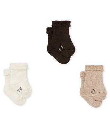 Lotto di tre paia di calzine tinta unita bebé unisex