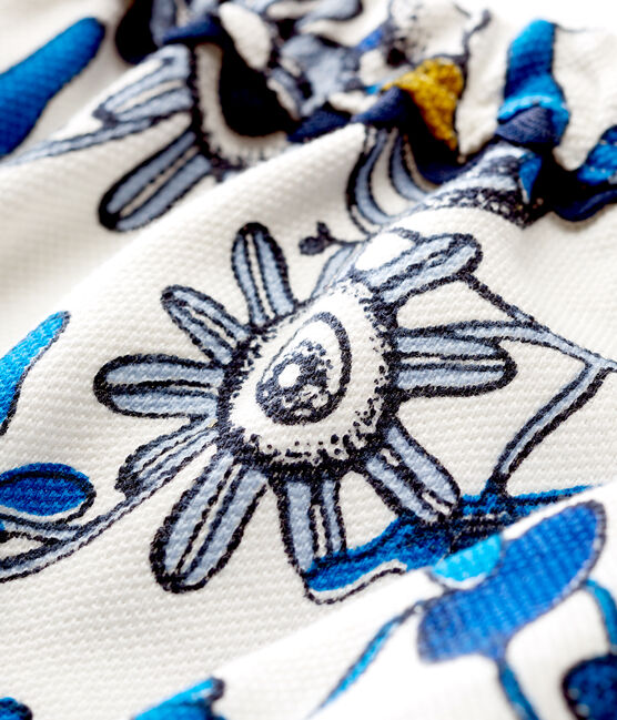 Culotte bloomer bebè bambina in maglia stampata bianco Marshmallow / bianco Multico
