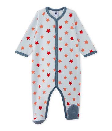 Tutina bebé bambino con stelle blu Fraicheur / arancione Orient