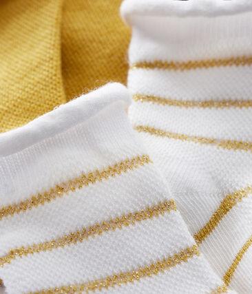 Confezione da 2 paia di calzini leggeri bebè femmina lotto .