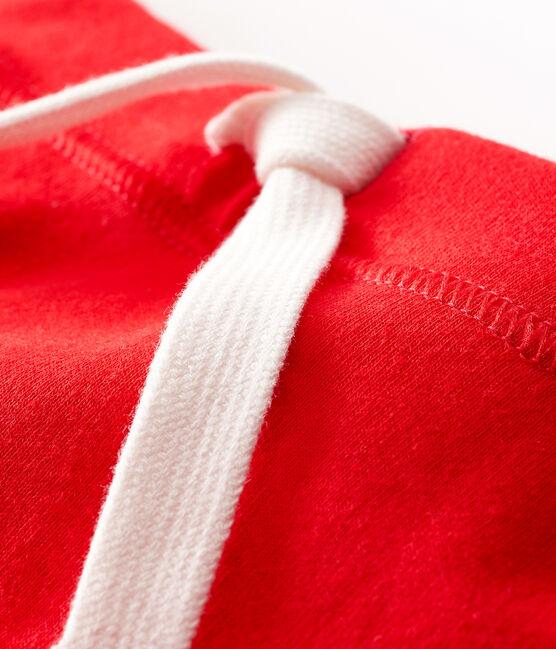 Short bebè unisex a tinta unita rosso Peps