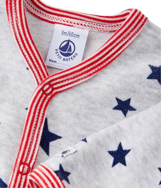 Tutina per bebé maschio stampata grigio Beluga / bianco Multico
