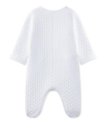 Tutina bebé unisex in tubique matelassé bianco Ecume