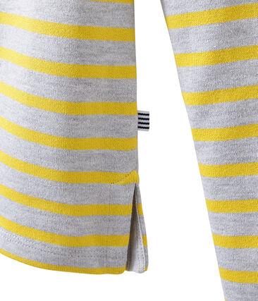 Mariniere iconica grigio Poussiere / giallo Ble