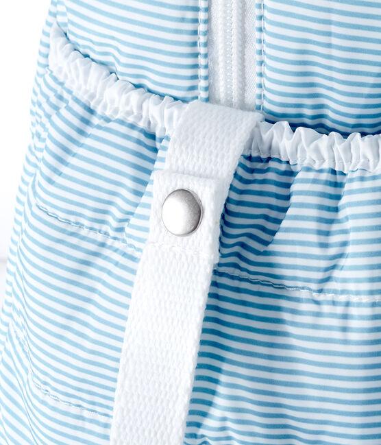 Borsa fasciatoio bebè unisex millerighe blu Fontaine / bianco Marshmallow