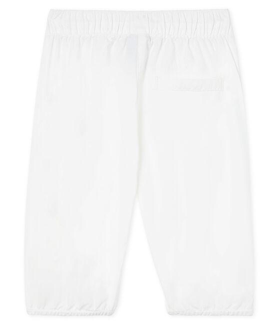 Pantalone da cerimonia in popeline da bebè maschio bianco Ecume