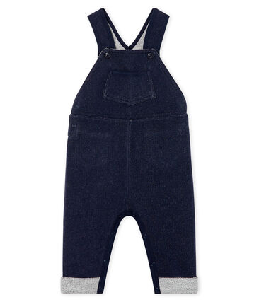 Salopette lunga in molleton per bebè maschio. blu Smoking